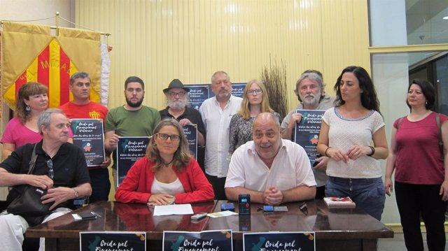 Presentación manifestación Crida pel finançament valencià