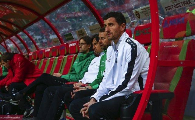 Javi Gracia entrenando al Rubin Kazan