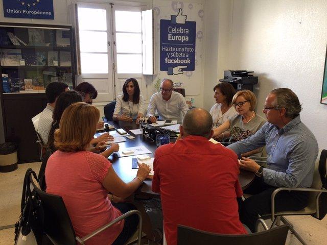 La reunión con los dinamizadores Guadalinfo ha sido en el Palacio Provincial.