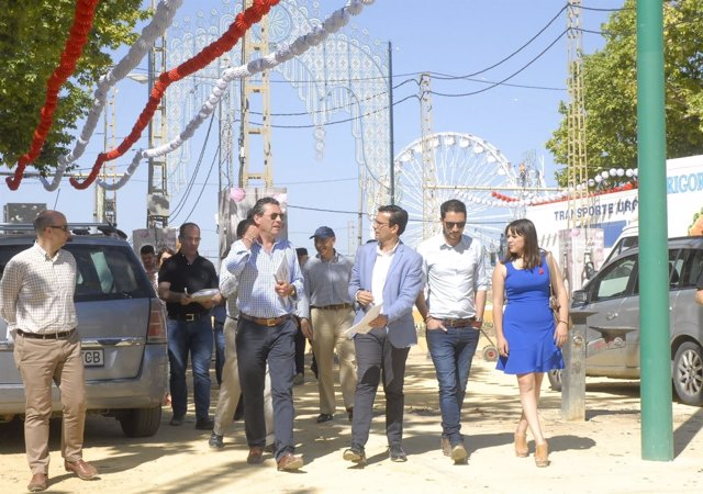 Francisco Cuenca, en una visita al recinto ferial de Almanjáyar
