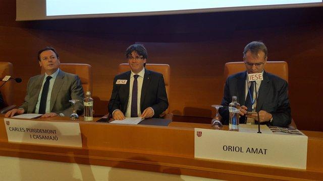 Pte.C.Puigdemont abre el VIII Cong.Catalán de Contabilidad y Dirección de Iese