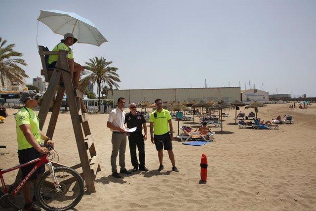 Díaz eguía protección civil socorrismo salvamento playas marbella torre verano