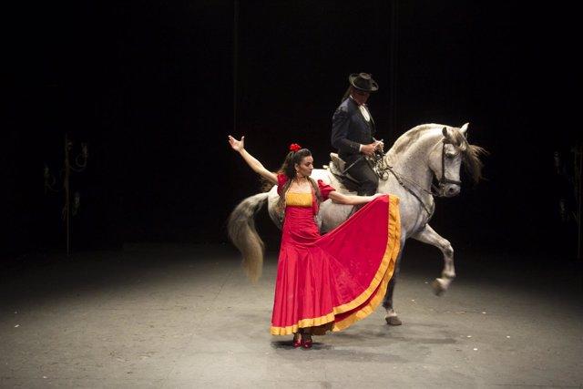 Carmen de Távora flamenco bienal arte cultura baile caballos cuieva de nerja