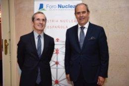 El embajador de Francia en España, , Yves Saint-Geours, e Ignacio Araluce