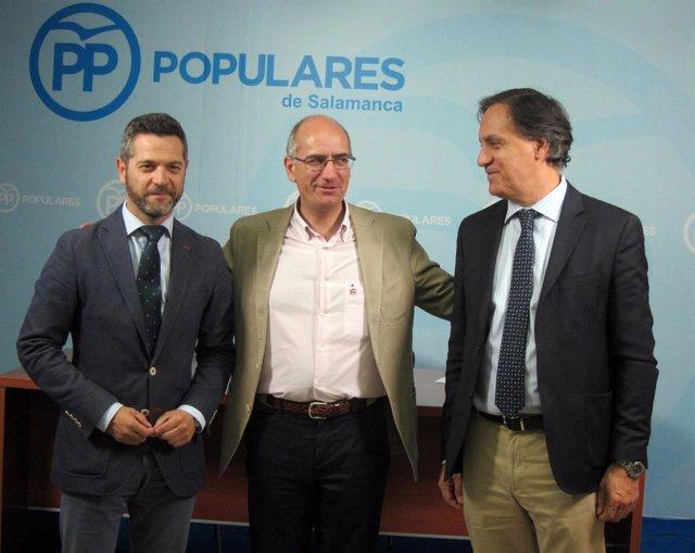 Los dirigentes del nuevo Comité Ejecutivo del PP de Salamanca