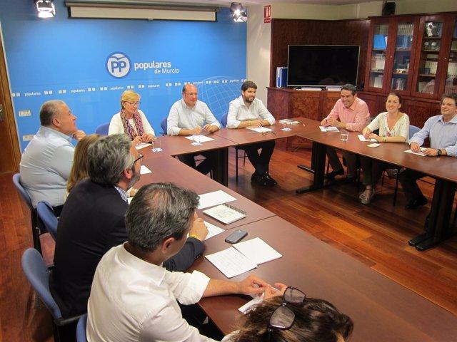 Pedro Antonio Sánchez preside el Comité Ejecutivo del PP