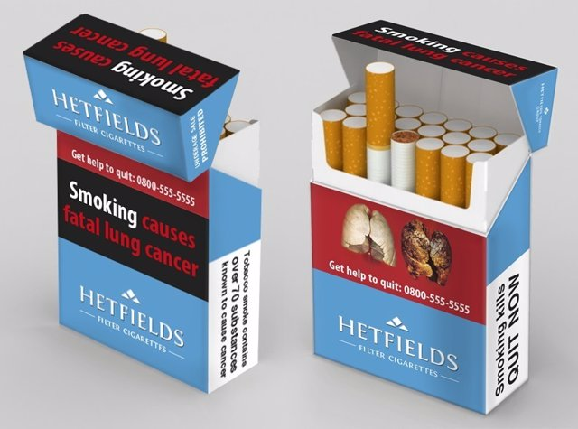Cajetilla tabaco directiva