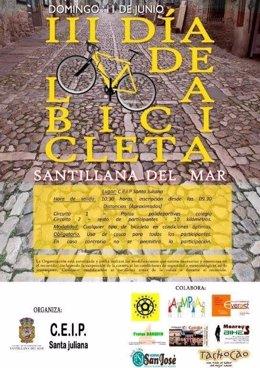 Cartel del III Día de la Bicicleta de Santillana del Mar