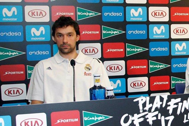 Sergio Llull en rueda de prensa previa a la final de Liga Endesa