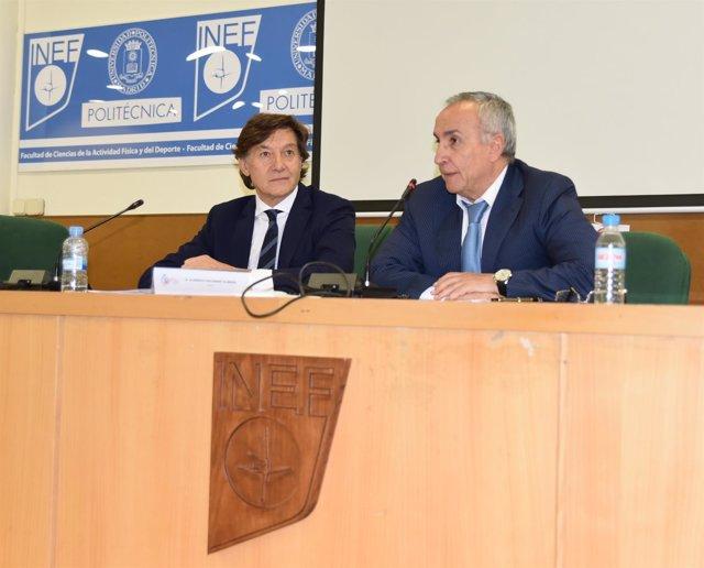 José Ramón Lete y Alejandro Blanco en INEF