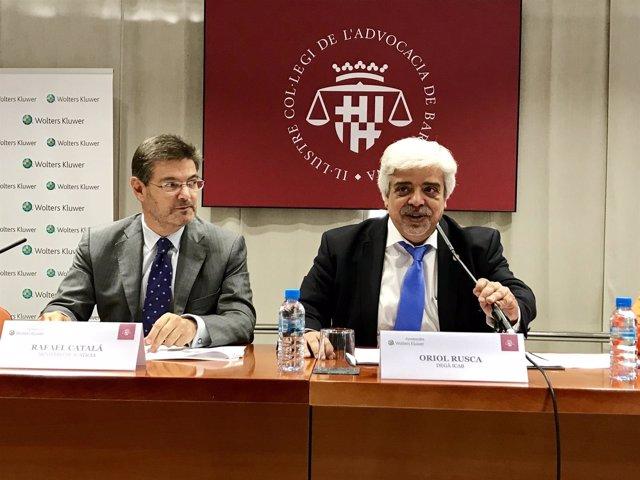 El ministro R.Catalá y O.Rusca (Icab)