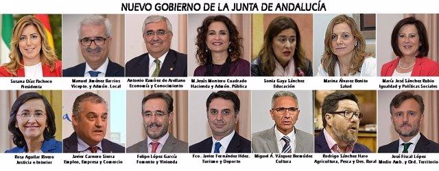 Composición del nuevo Gobierno andaluz