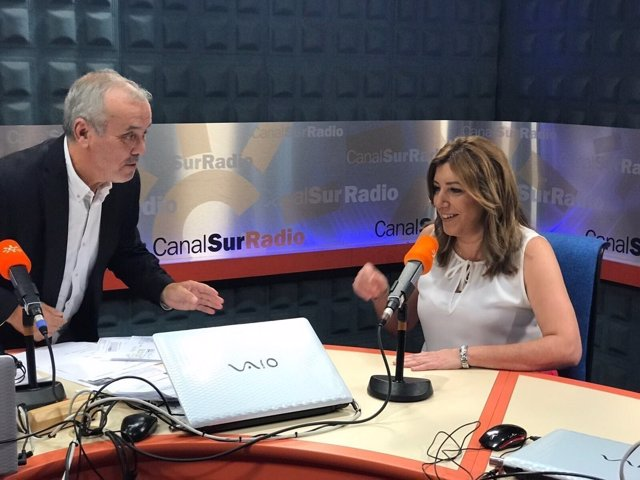 La presidenta de la Junta de Andalucía, Susana Díaz, en entrevista radiofónica
