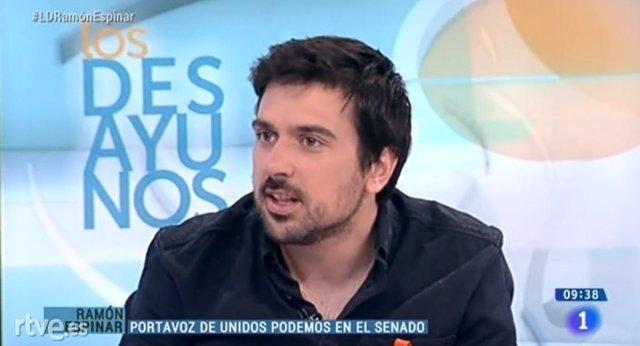 Ramón Espinar en TVE