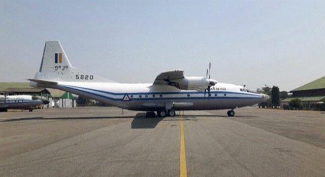 Imagen de un avión militar Y-8-200 F similar al que se ha estrellado en Birmania