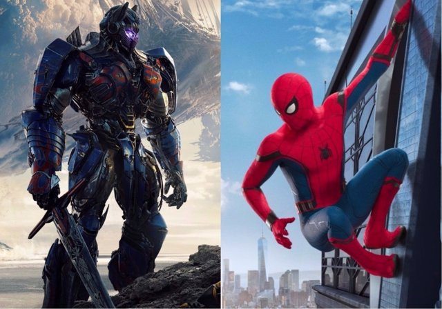 Transformers: El último caballero/Spider-Man: Homecoming