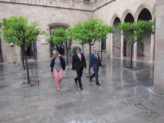 Carles Puigdemont llega el Consell Executiu