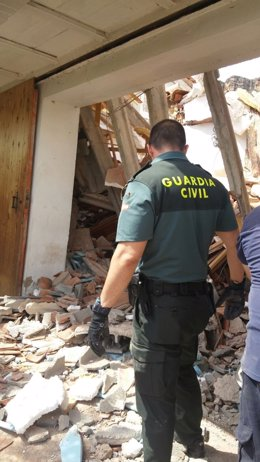 Derrumbe de una casa en Nuévalos