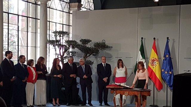 Toma de posesión del nuevo Gobierno andaluz presidido por Susana Díaz