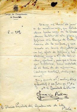 El documento encontrado por un técnico municipal del Ayuntamiento de Granollers