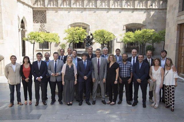 El Club Natació Sabadell se reúne con el presidente Puigdemont