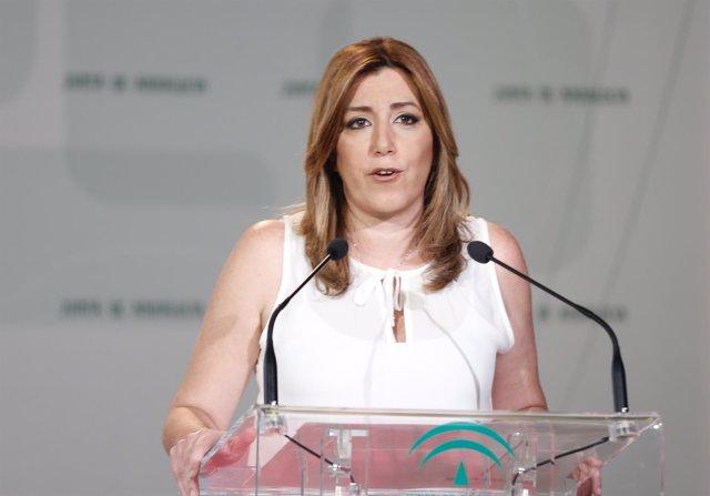 Susana Díaz, en su discurso durante la toma de posesión de nuevos consejeros