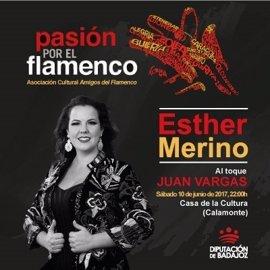 """Un recital de Esther Merino abre en Calamonte el circuito """"Pasión por el Flamenco"""" de la Diputación de Badajoz"""