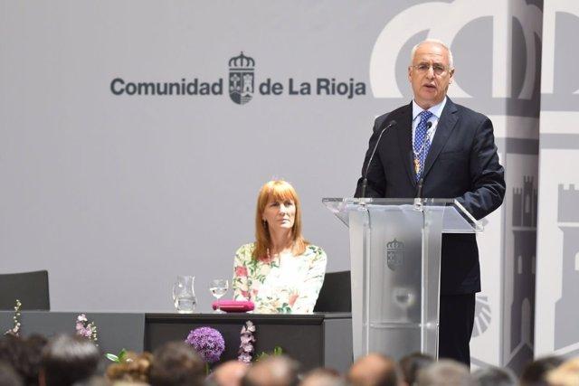 El presidente riojano, José Ignacio Ceniceros, en el Día de La Rioja