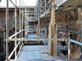 El 18 de junio se inician visitas guiadas a las obras del claustro de la catedral de Pamplona