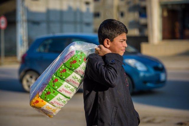 Un niño refugiado sirio en Líbano