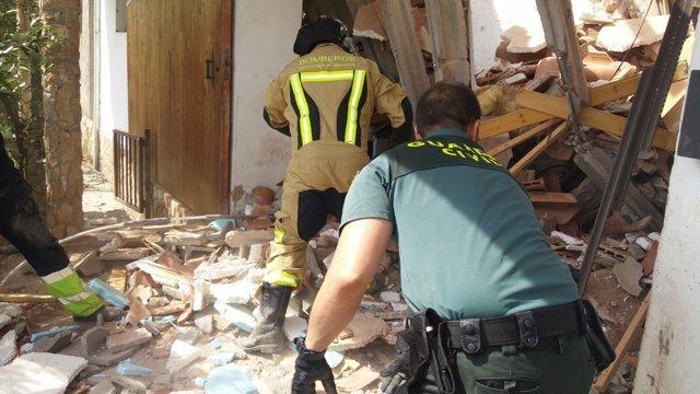 La casa derrumbada en Nuévalos