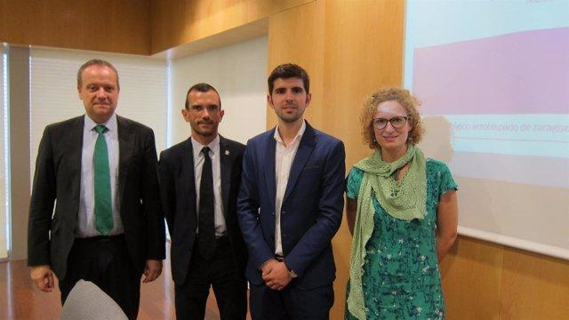Ernesto Meléndez, José María Albalad, Jesús Sánchez y Pilar Muniesa