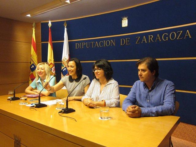 Calavia, Palacín, Gracia y Lacosta han presentado el curso 'El cine por dentro'