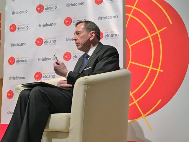 El general retirado David Petraeus, en un coloquio con el Real Instituto Elcano
