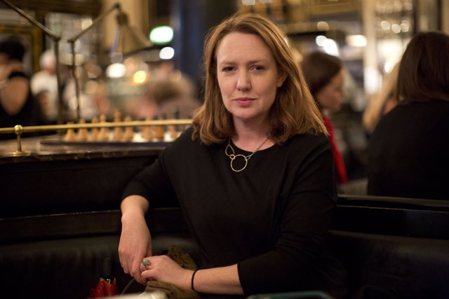"Paula Hawkins, author of ""The Girl on the Train"", poses for a portrait in London"