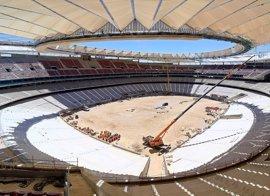 Hallan un obús de la Guerra Civil en las obras del Wanda Metropolitano y los Tedax lo detonan