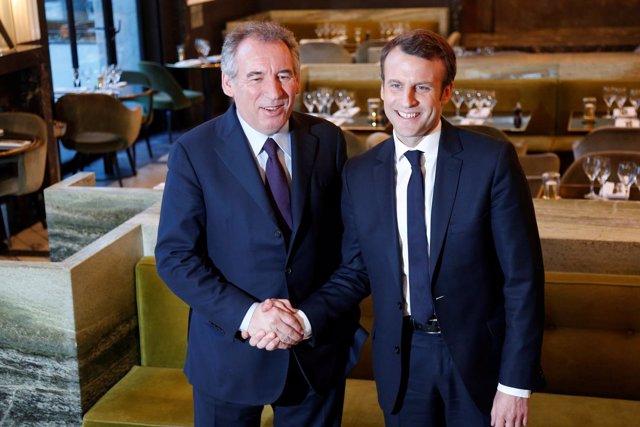 Emmanuel Macron y François Bayrou
