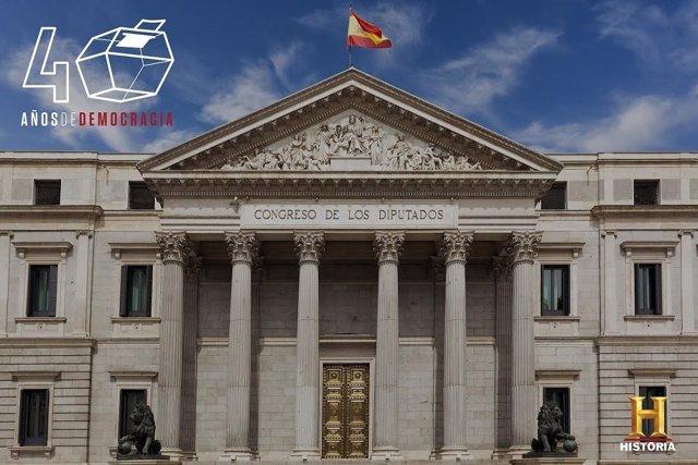 Congreso de los Diputados en Canal Historia. 40 años de Democracia.