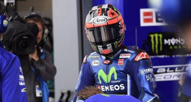 El piloto español Maverick Viñales (Yamaha)