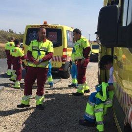 Muere una mujer de 50 años al explotar su coche tras un accidente en Talamanca del Jarama