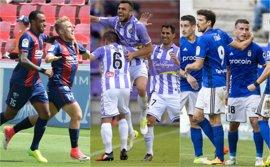 Huesca, Valladolid y Oviedo buscan la postemporada y cuatro equipos quieren huir del descenso
