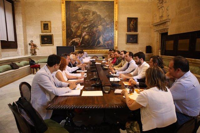 Reunión entre el Gobierno local y Ciudadanos.