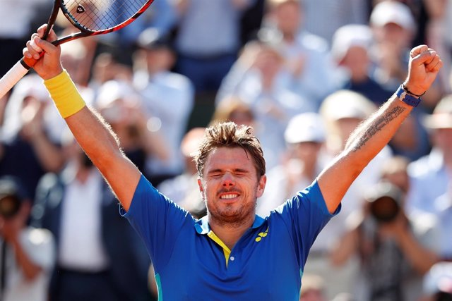 Stan Wawrinka celebra el pase a la final de Roland Garros 2017