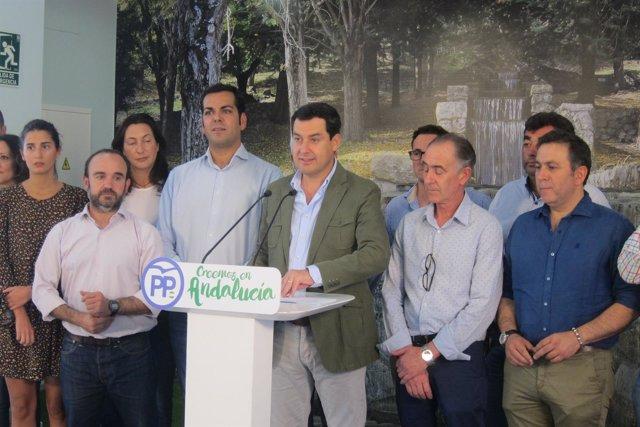 Juanma Moreno en su intervención en el Ágora Rural