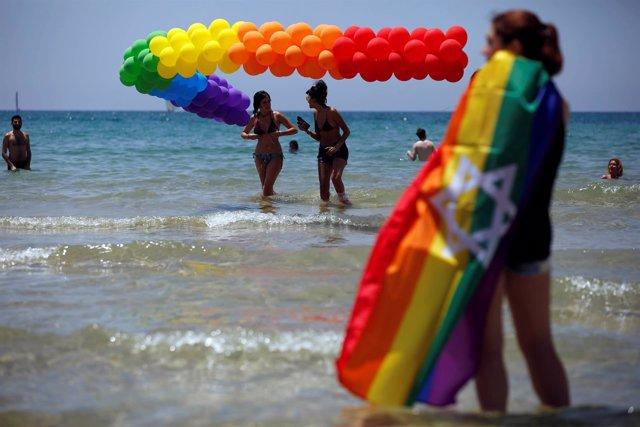 Celebración del 'orgullo gay' en Tel Aviv