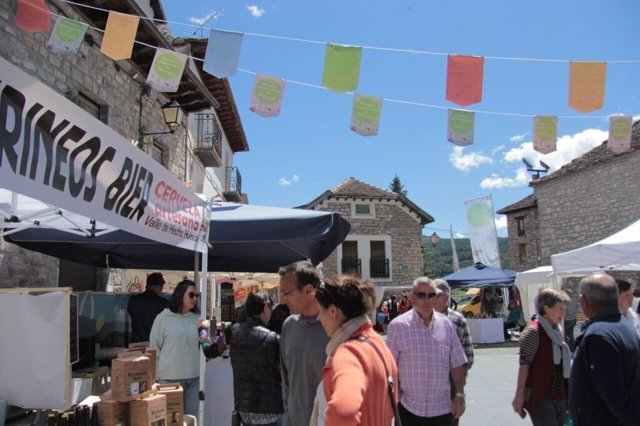 Mercado agroalimentario en Aínsa