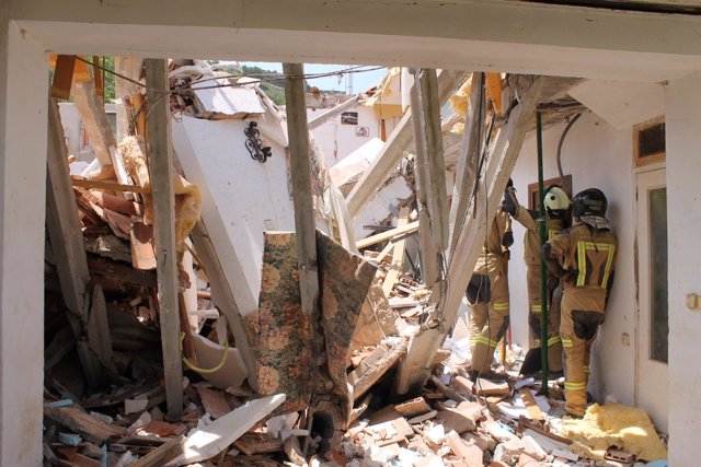 La vivienda se ha derrumbado este viernes en Nuévalos