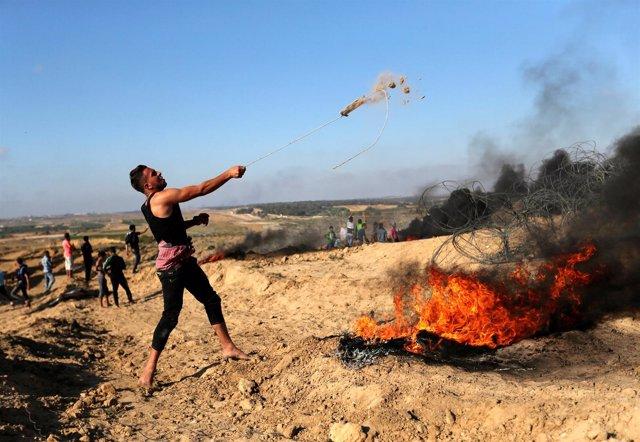 Protestas en la frontera de la Franja de Gaza con Israel