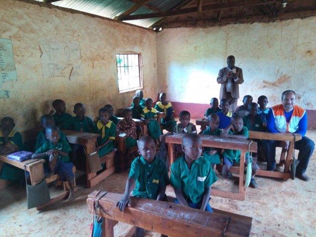 Escuela apoyada por World Vision en Kenia