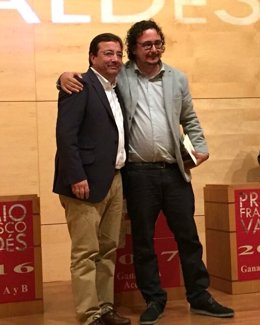 Fernández Vara junto a Cristóbal González Montilla